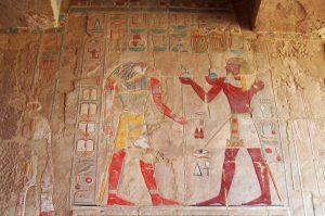 Grabmalerei am Grab der Pharaonin - Hatschepsut
