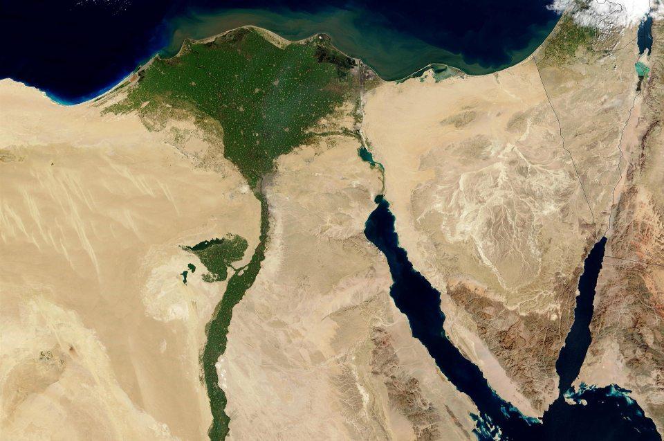 Klima und Landschaft: Nildelta - Luftbild