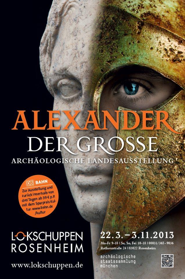 Plakat Ausstellung Alexander der Grosse 2013