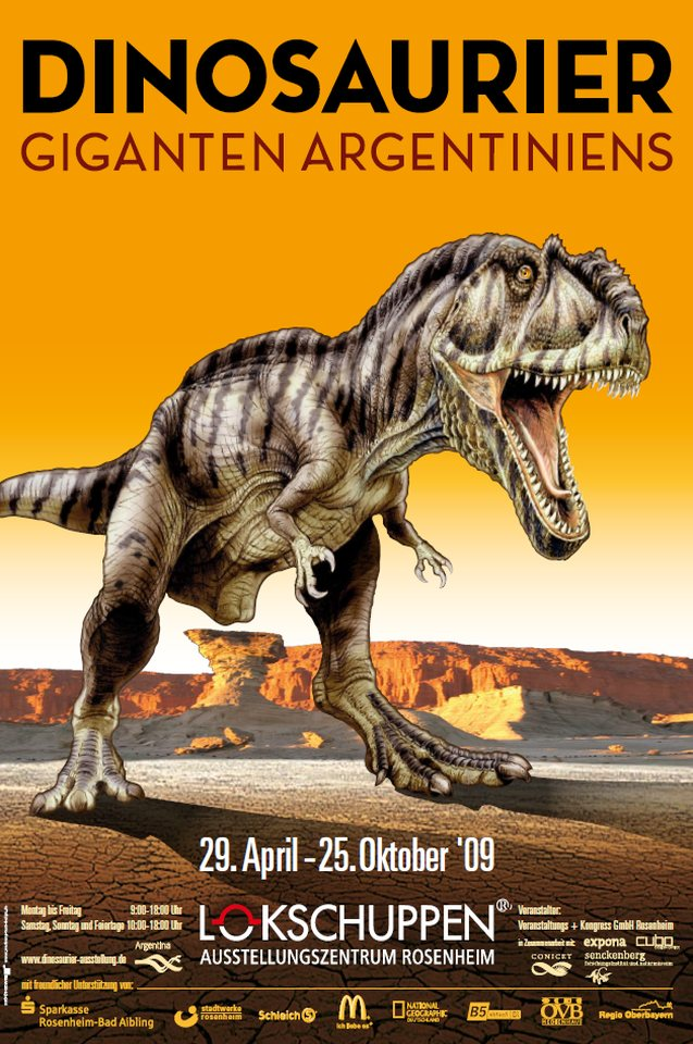 Plakat Ausstellung Dinos 2009