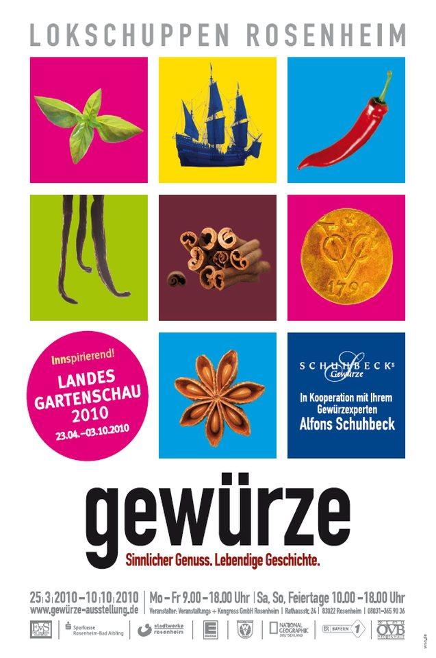 Plakat Ausstellung Gewürze 2010
