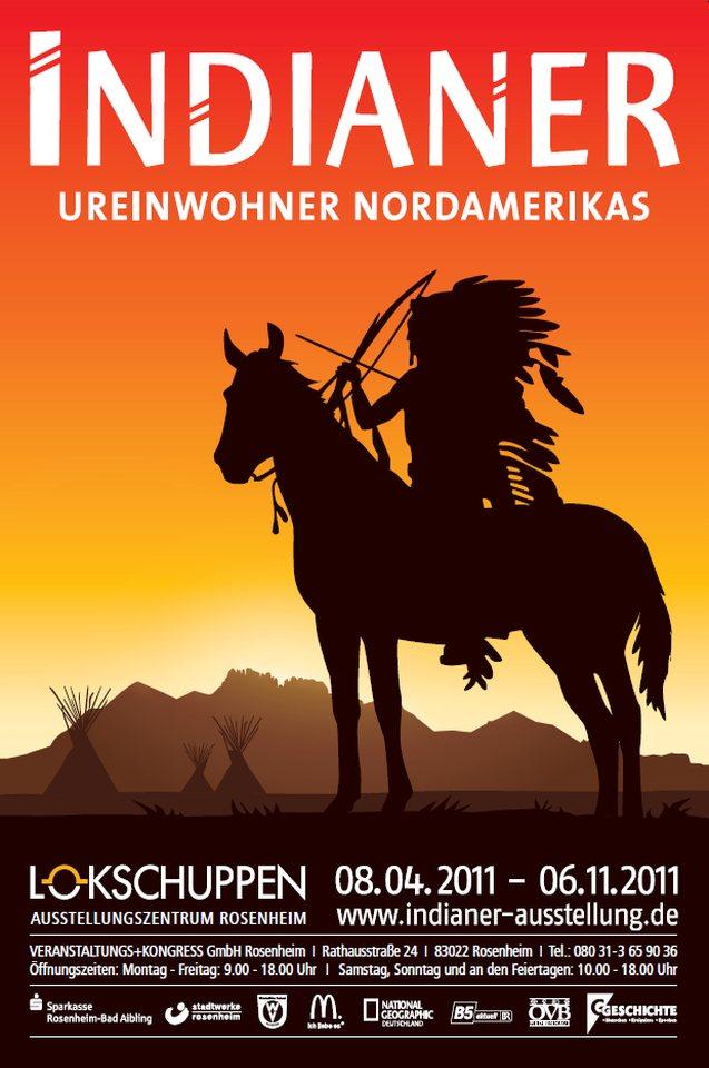 Plakat Ausstellung Indianer 2011