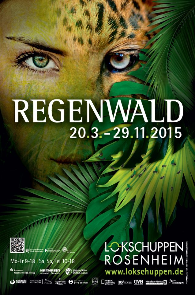 Plakat Regenwald Ausstellung 2015