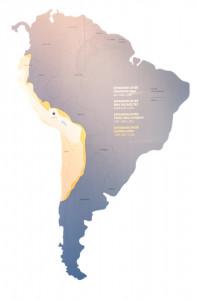 Ausdehung des Inka Reichs