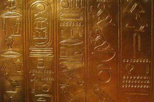 Goldene Hieroglyphen
