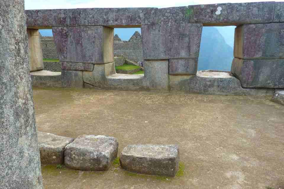 Arichtektur & Städte der Inka: Steinmauern Machu Picchu