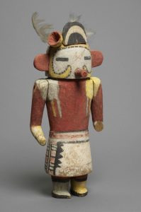 Katsinam - gute Geister - Hopi Bohnen Katsina, Arizona um 1910 Morivoskatsina © Museum für Völkerkunde Wien