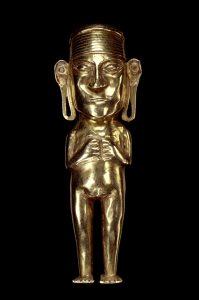 Orejon Goldene Figur eines Inka Adeligen © LindenMuseum Stuttgart Foto: Anatol Dreyer