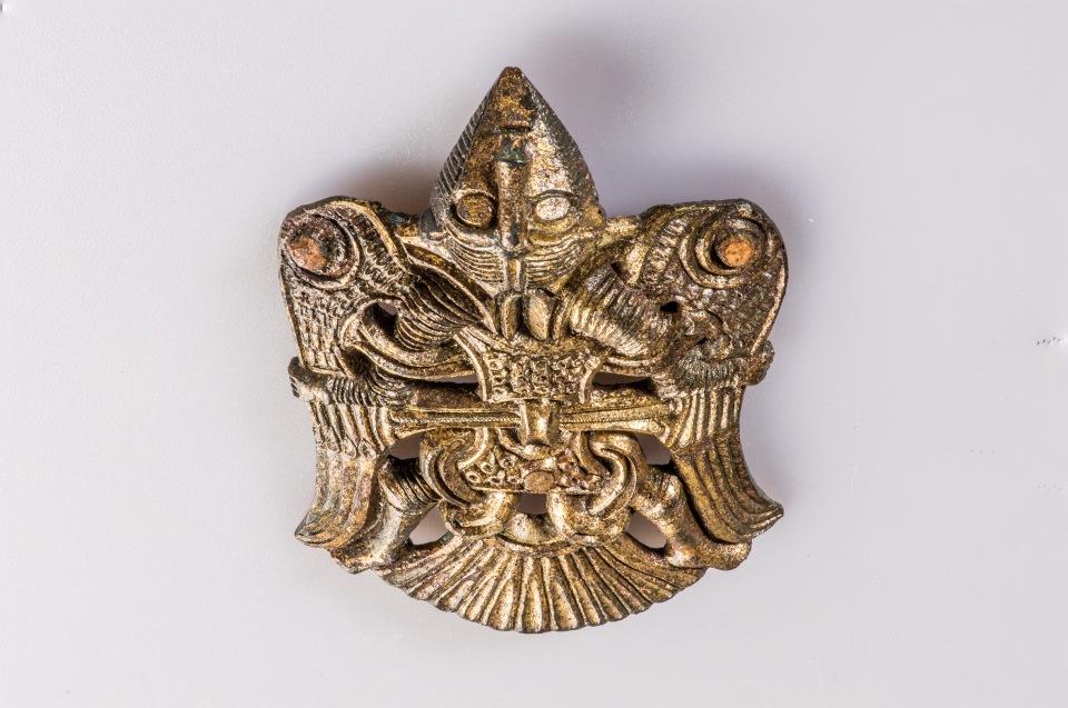 Wieland Beschlag, Upparka, Bronze, vergoldet, 10. Jh. © Lunds Universitets Historika Museum - Foto: Andreas Jacob