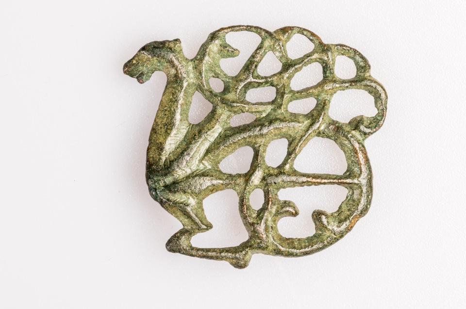 Urnesfibel, Fundort unbekannt, Bronze, 11. Jh. © Lunds Universitets Historika Museum - Foto: Andreas Jacob