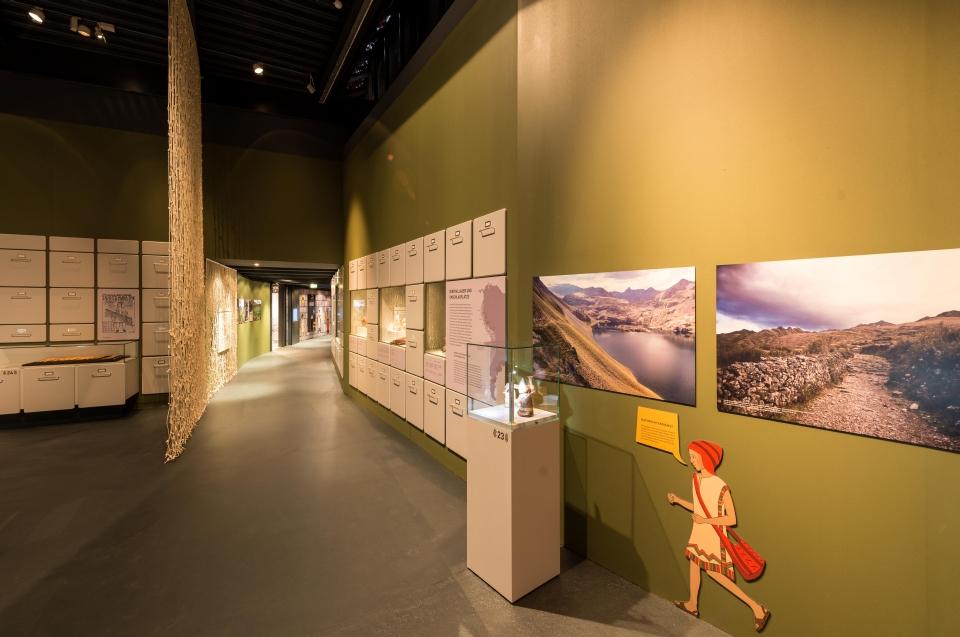 Ausstellungsraum Quipu Code Inka Ausstellung - Copyright: Andreas Jacob