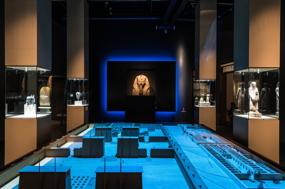Ausstellungsraum mit Hatchepsut Pharao Ausstellung - Copyright: Andreas Jacob