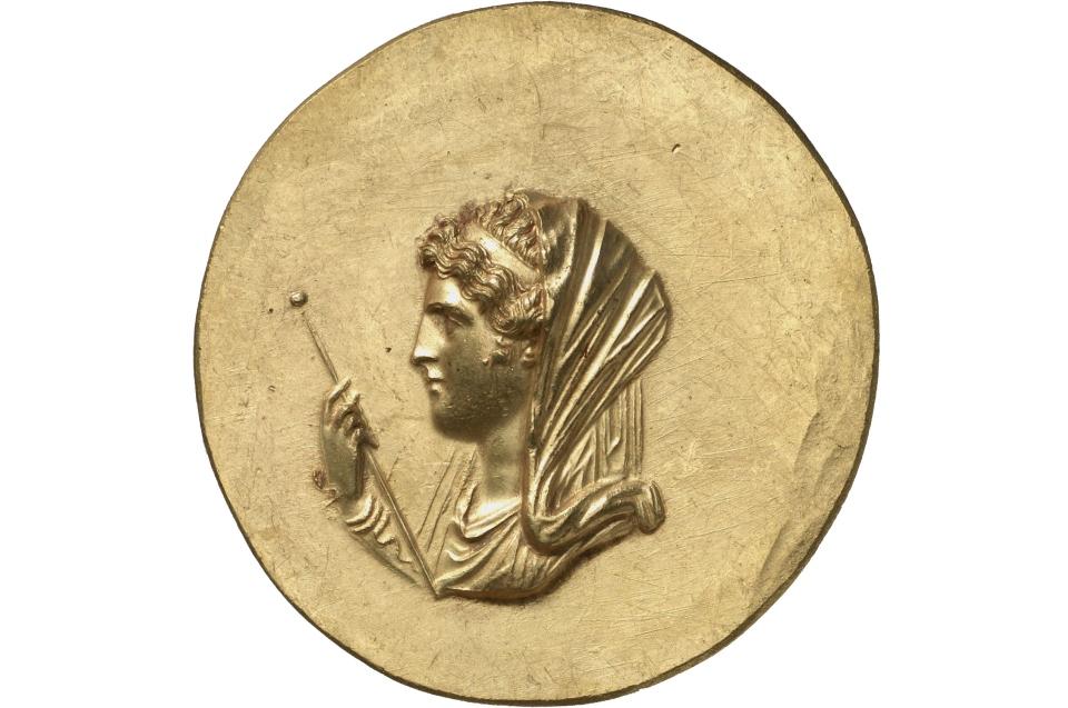 Medaillon mit dem Bildniss der Olympias Abukir (Ägypten), 1. Hälfte des 3. Jh. n. Chr. © Münzkabinett, Staatliche Museen zu Berlin, 18200020, Aufnahme: Lutz-Jürgen Lübke
