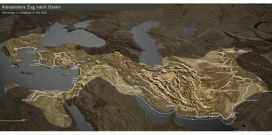 Karte Alexander Zug © Curt-Engelhorn-Stiftung für die Reiss-Engelhorn Museen Mannheim