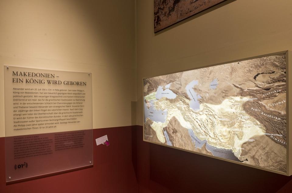 Landkarte Alexander Ausstellung - Copyright: Andreas Jacob