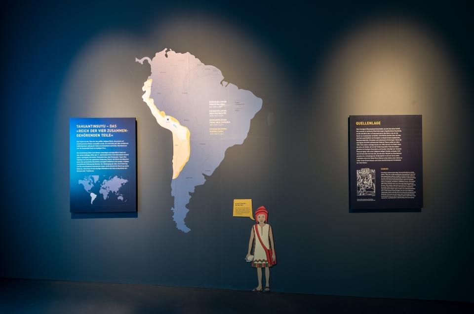 Landkarte Ausdehnung Inka Reich Inka Ausstellung - Copyright: Andreas Jacob