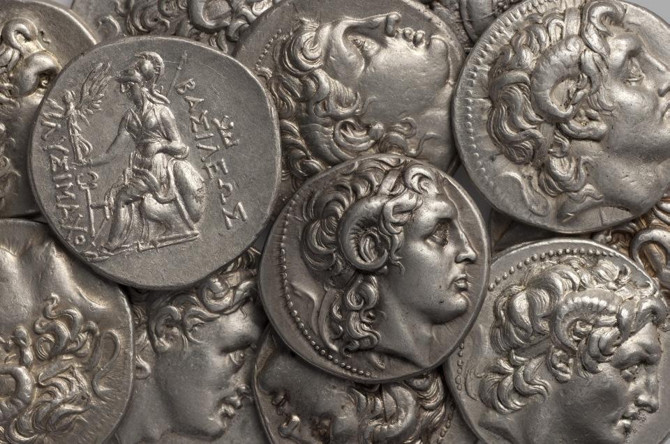 Lysimachos Münze, Alexander mit Amunshörnern © München, Staatliche Münzsammlung