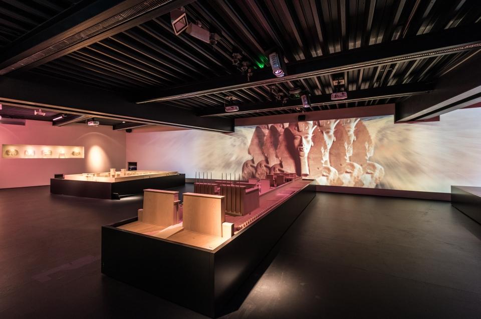 Projektion Amarna Pharao Ausstellung - Copyright: Andreas Jacob