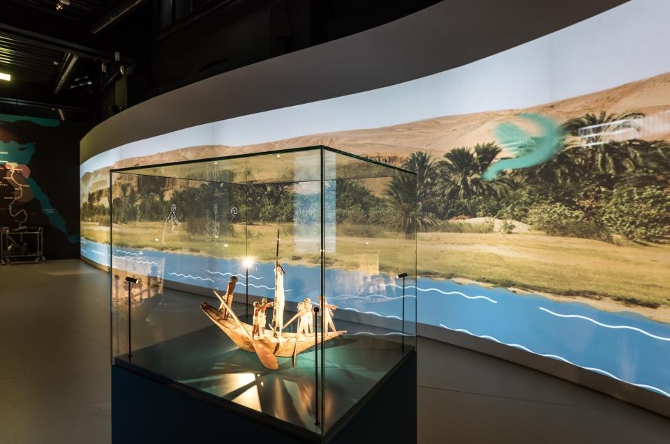 Projektion Nilschwemme Pharao Ausstellung - Copyright: Andreas Jacob