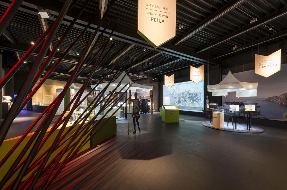 Raumeindruck Eingang Alexander Ausstellung - Copyright: Andreas Jacob