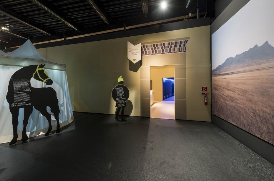 Silhouette Bukephalos Alexander Ausstellung - Copyright: Andreas Jacob