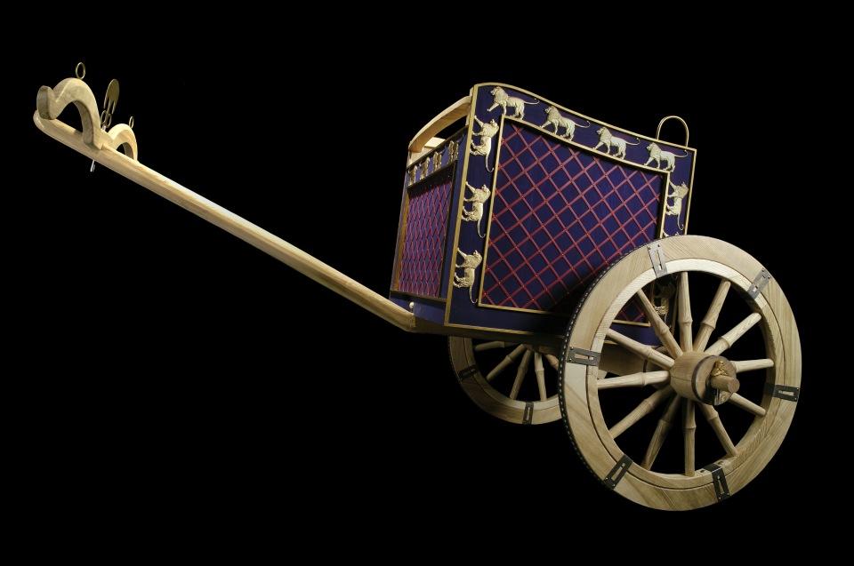 Nachbau eines persischen Streitwagens © Historisches Museum der Pfalz - Foto: Peter Haag-Kirchner