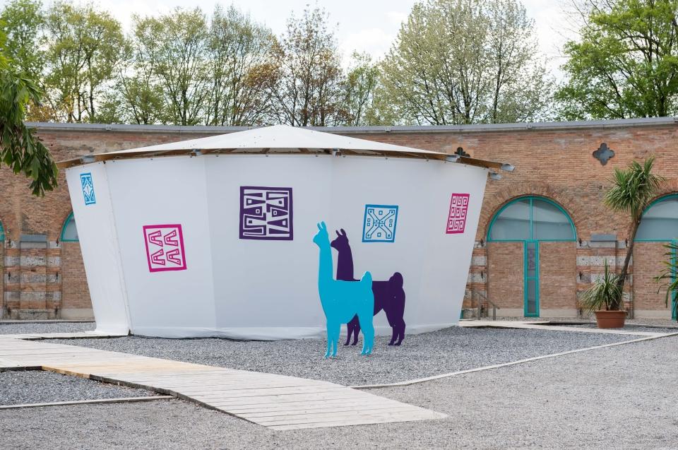 Vorplatz Lokschuppen Inka Ausstellung - Copyright: Andreas Jacob